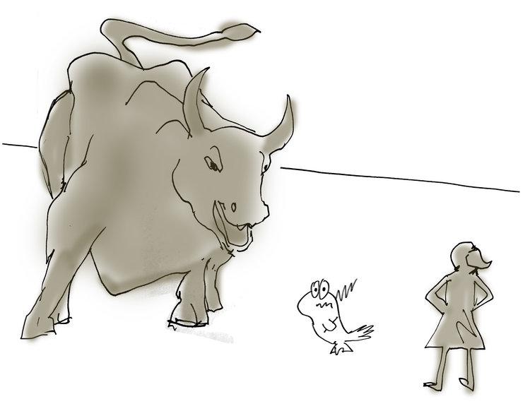 """""""Fearless Girl vs. Charging Bull vs. Discharging Pigeon"""""""