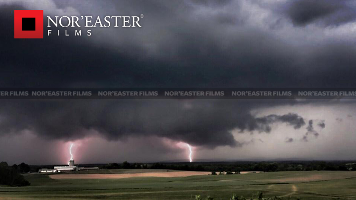 Twin lightning strikes in Washington County, New York.  Video Screen Capture.