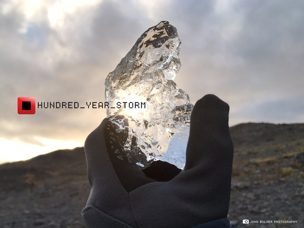 Shard of 2,500 year old ice from the Svínafellsjökull Glacier in Southern Iceland.