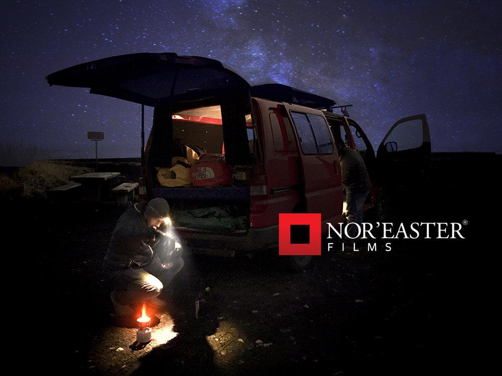 Preparing camp under the vast Icelandic night sky.