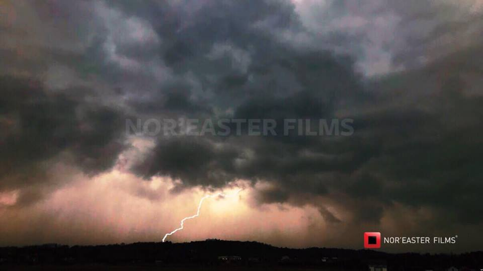 Lightning strike associated with a line of severe storms passing through Southern Saratoga County, New york on April 9, 2019.