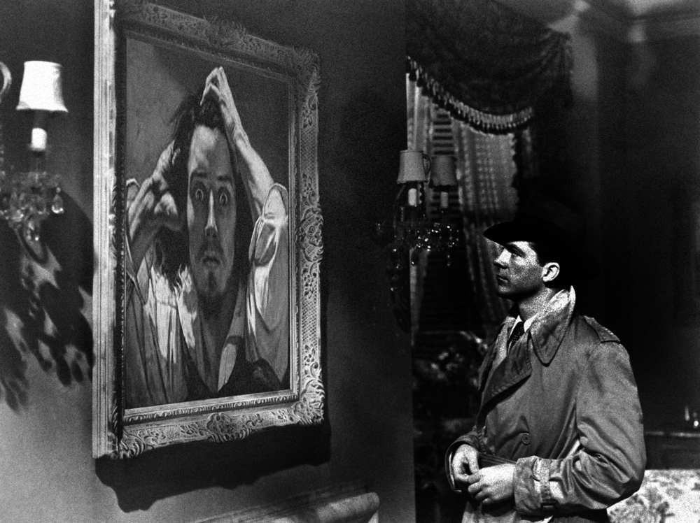 Framed (1M 1F)  A dead body, a priceless painting, a hardboiled heroine, and a hard-luck detective.