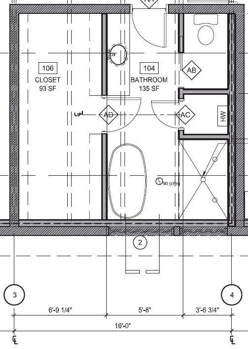 Grid lines provide a reference point for dimensioning and describing walls.