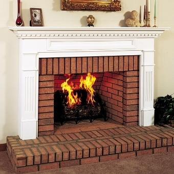 Traditional Masonry Fireplace