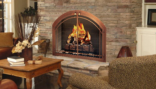 Northfield Fireplace Grills Glass Doors