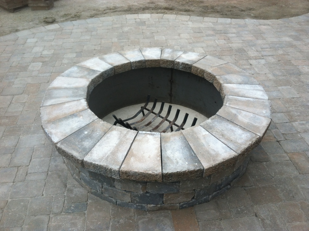 Custom Firepit Installation
