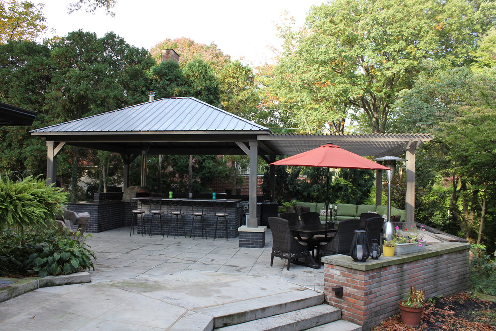 12'x12' Cascade Regular Roof with pergola attached Custom Height.JPG