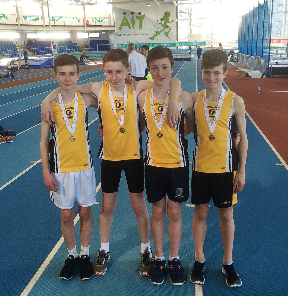U14 Boys Relay team, 4x200 National Indoor Champions and CBP 1.47.04