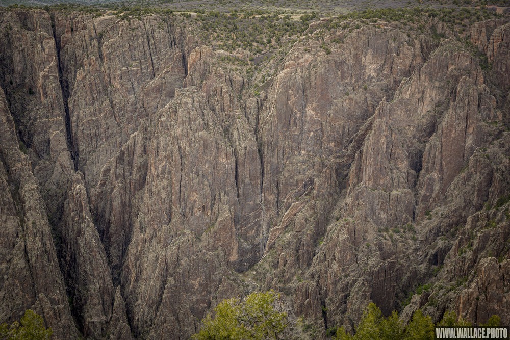 Precambrian gneiss and schist comprise the majority of Black Canyon's geology.