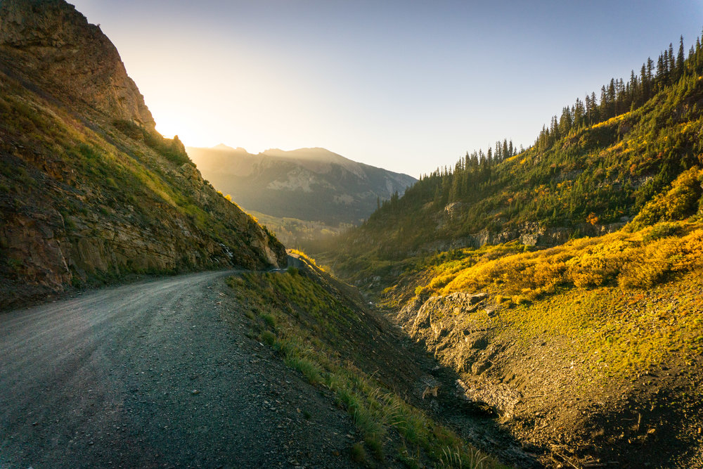 The glorious road down to Crested Butte from Emerald Lake/Schofield Pass.