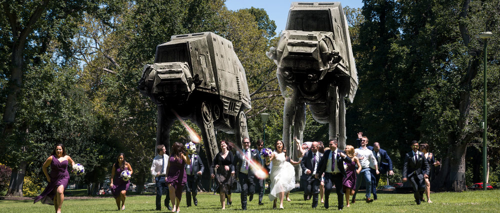 Star Wars AT-AT Walker Composite Wedding Photograph in Melbourne, Australia