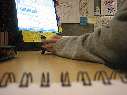 Working. Image copyright: Katy Warner on flickr ( CC BY-SA 2.0 )