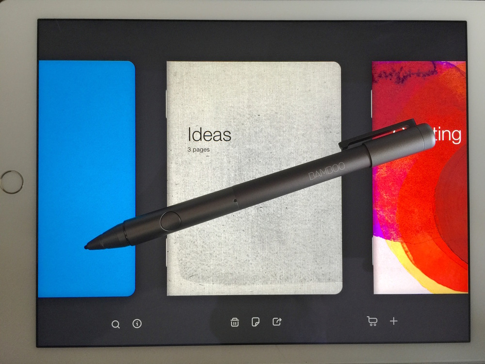 Wacom bamboo stylus fineline and bamboo paper - notebook app