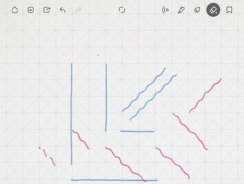 "image shows straight vertical and horizontal lines, but diagonals (drawn straight) show up ""wavy"""