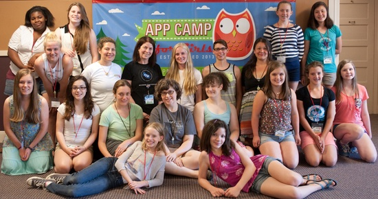 App Camp For Girls Portland, July 2014: Image courtesy of App Camp For Girls