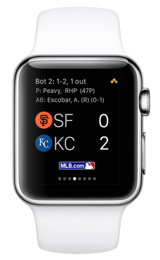 MLB.COM AT BAT ON Apple Watch. Via Apple.com/Watch