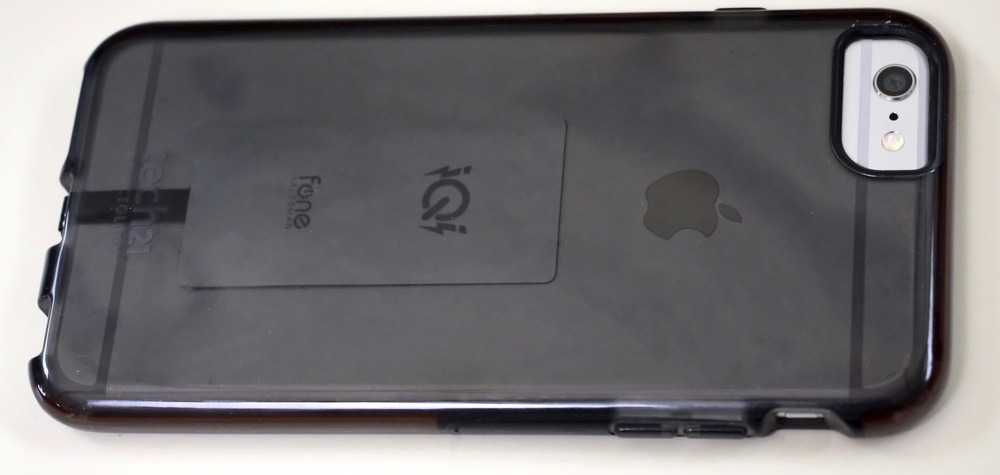 iQi Mobile Qi Receiver inside iPhone 6 Plus case. Photo ©2015 Steven Sande