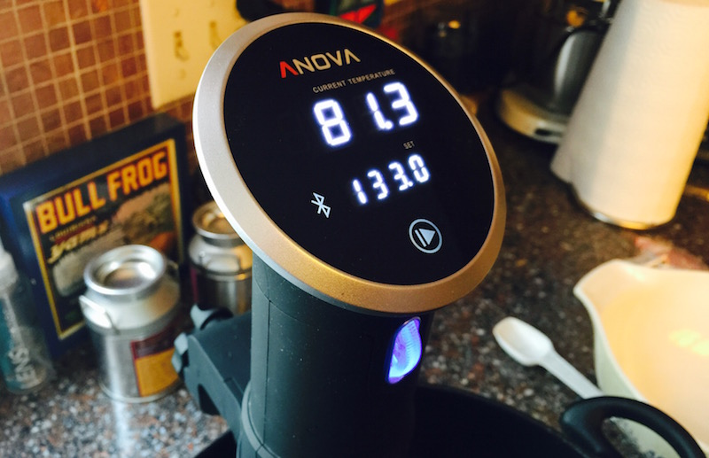 anova culinary precision cooker in operation. photo ©2015, steven sande