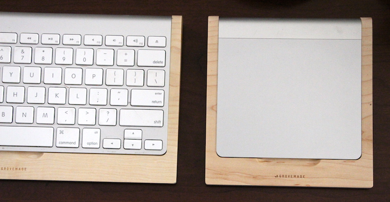 Grovemade Maple Keyboard/Trackpad Trays. Photo ©2015, Steven Sande. All rights reserved.