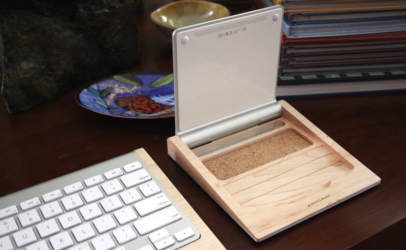 Grovemade Trackpad Tray. Photo ©2015, Steven Sande. All rights reserved.