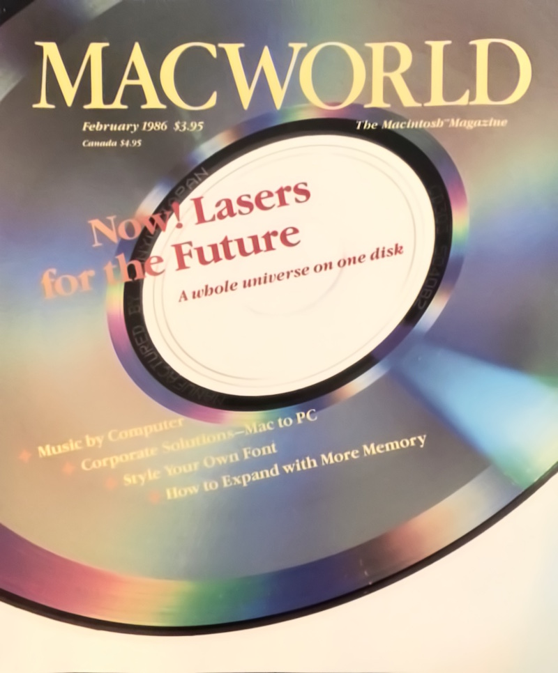 Image from Macworld Magazine, February 1986 issue