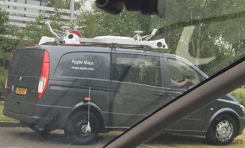 Apple Maps vehicles spotted surveying England with New Orleans