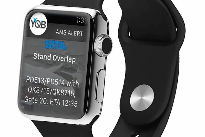 Apple Watch running SITA app. Image via Skift.com