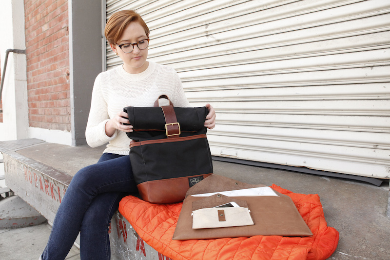 DODOcase URBAN BACKPACK, LEATHER LAPTOP PORTFOLIO AND LEATHER & CANVAS PHONE CLUTCH. IMAGE VIA DODOcase.