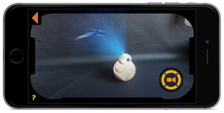 "BB-8 Augmented Reality ""hologram"". Photo by Krystian Kozerawski."