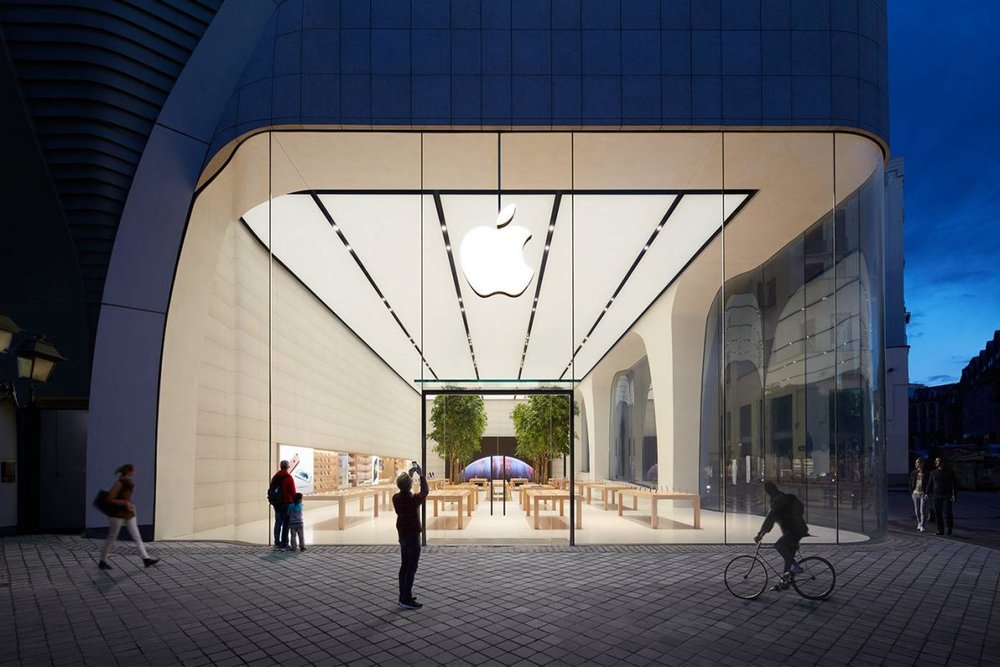 Brussels, Belgium Apple Store. Photo courtesy of Apple, via Business Insider