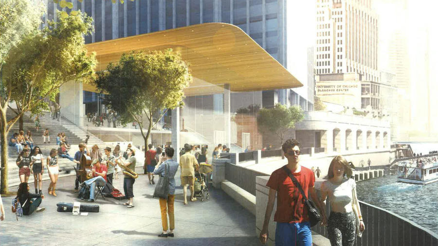 ARCHITECTURAL RENDERING BY FOSTER+PARTNERS VIA THE CHICAGO TRIBUNE
