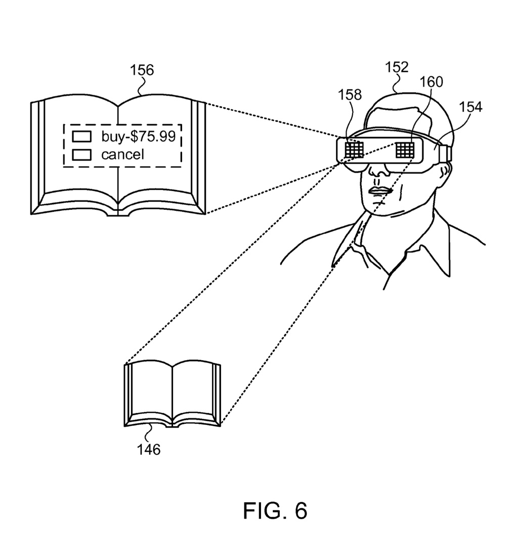 FIG. 6 illustrates an interactive three-dimensional video display system that includes a wearable monitor.
