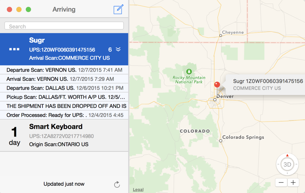 Map My Package on