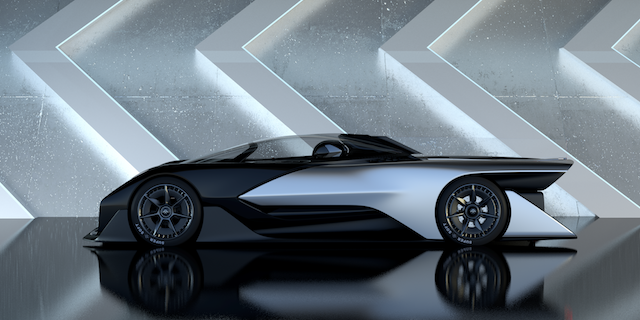 The Faraday Future FF1 concept car, which is NOT an Apple car...