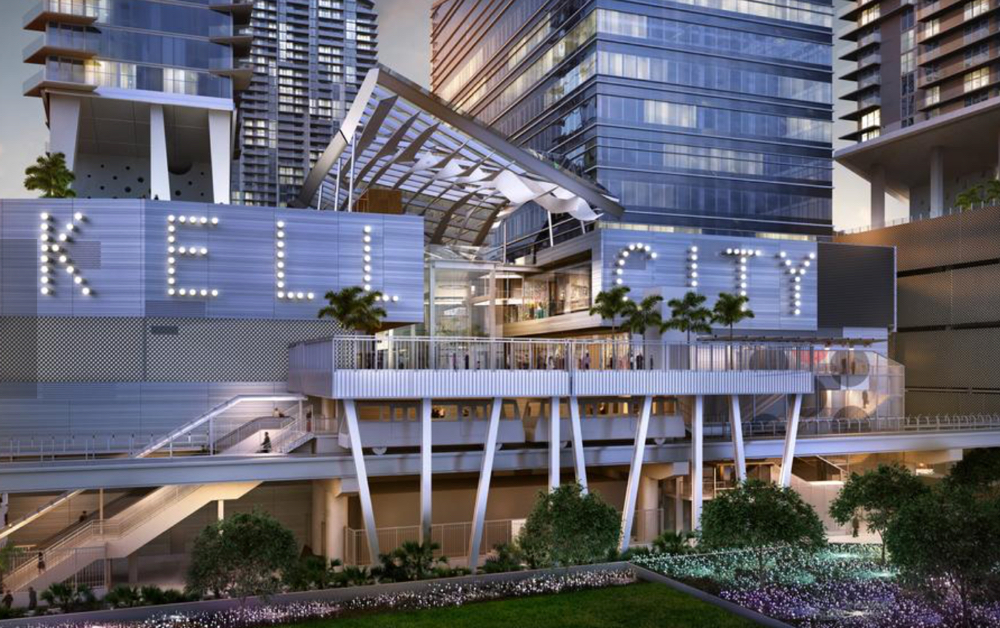 Brickell City Centre will occupy nine acres along South Miami Avenue between Sixth and Eighth Street in downtown Miami. — Graphic courtesy of the South Florida Business Journal.