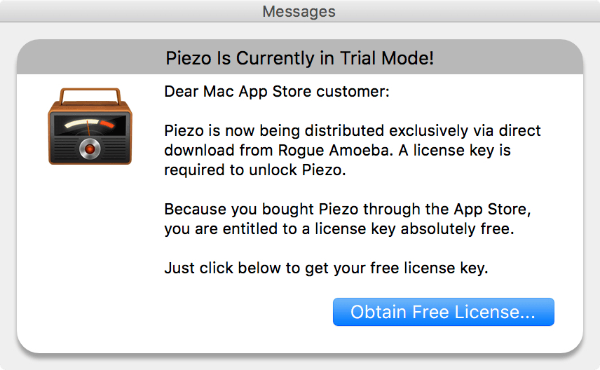 Rogue Amoeba's Piezo is leaving the Mac App Store
