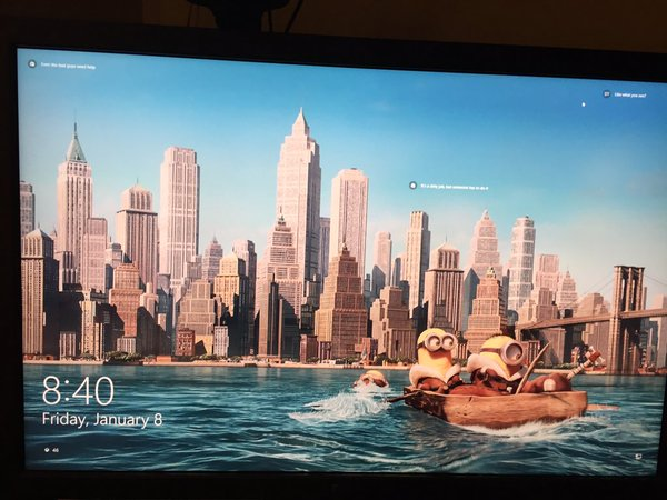 Windows 10 Lock Screen Ad screenshot courtesy of  Twitter user @jeffgerstmann