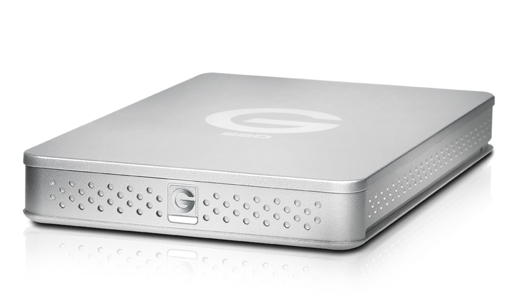 apple external hard drive. bus-powered, it requires no external power brick. the g-drive mobile usb-c is available in gold, space grey, and silver models. sports a 7200 rpm hard apple drive