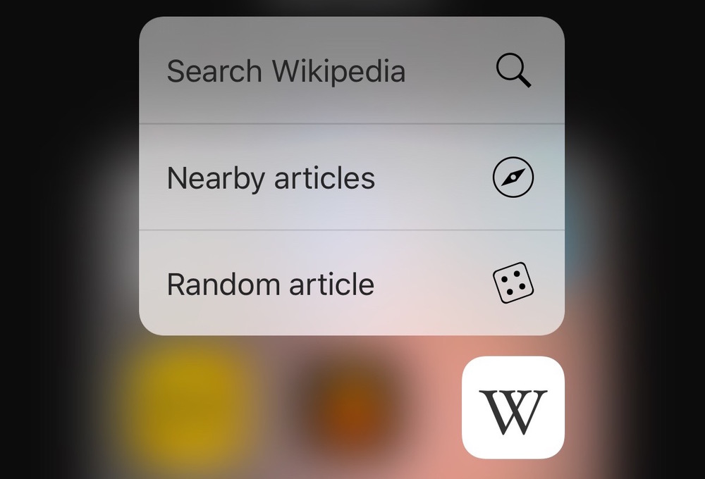 Wikipedia Mobile app gets the 3D Touch treatment, adds