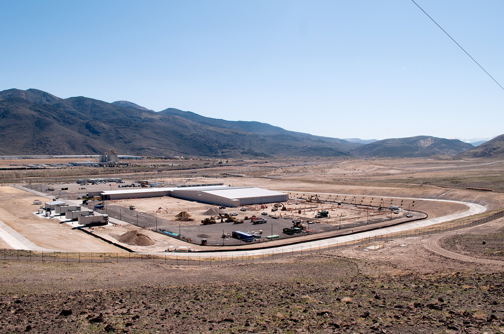 Apple's Nevada data center and solar field