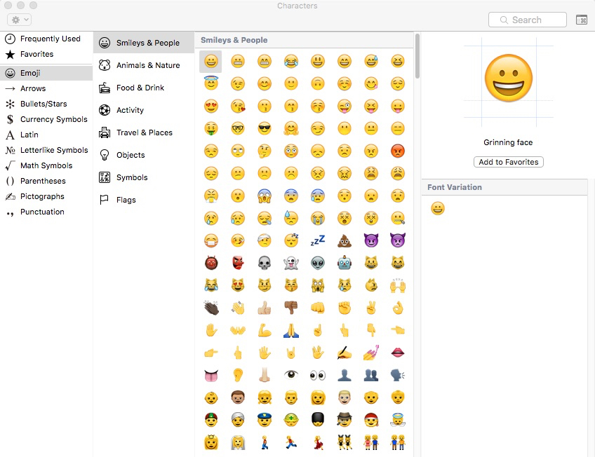 Heres A Secret Keyboard Shortcut For The Mac Emoji Viewer Apple