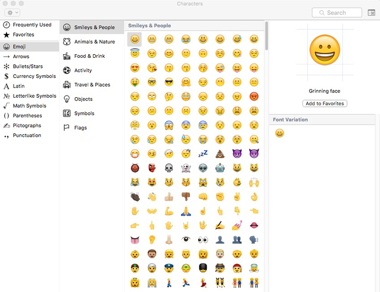 Heres A Secret Keyboard Shortcut For The Mac Emoji Viewer Apple