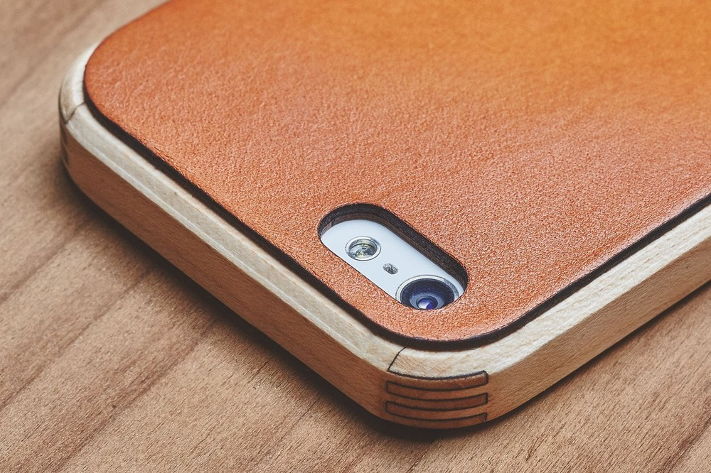 Grovemade Maple & Leather Case. Image via Grovemade