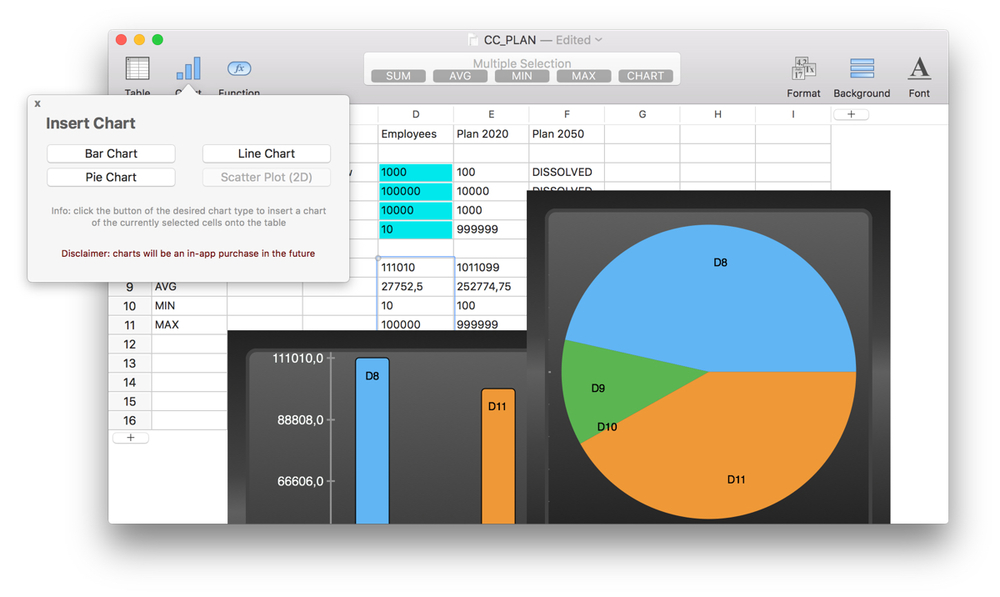 Tableedit Is A New Spreadsheet App For Mac Os X And It S