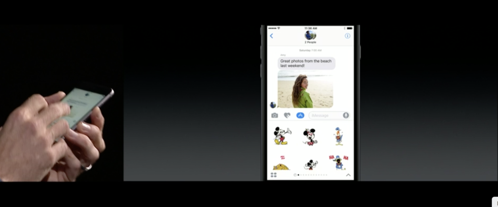 Animated Disney stickers for Messages