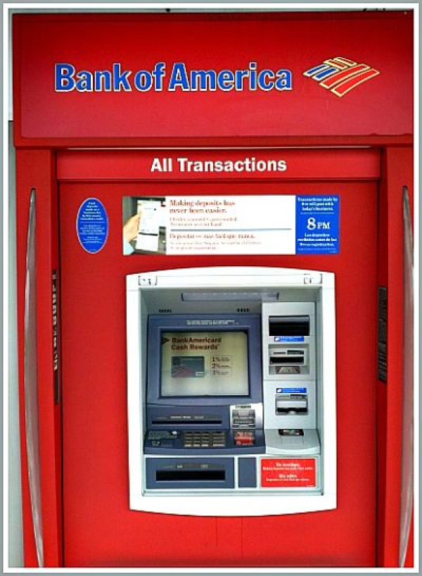 can you deposit money order in atm bank of america