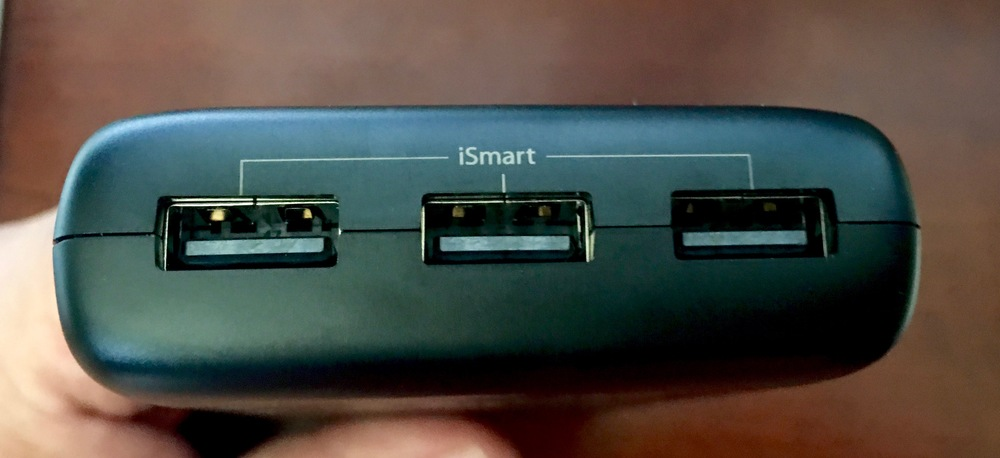 The three iSmart 2 USB ports on the business end of the Ace Series. Photo©2016, Steven Sande