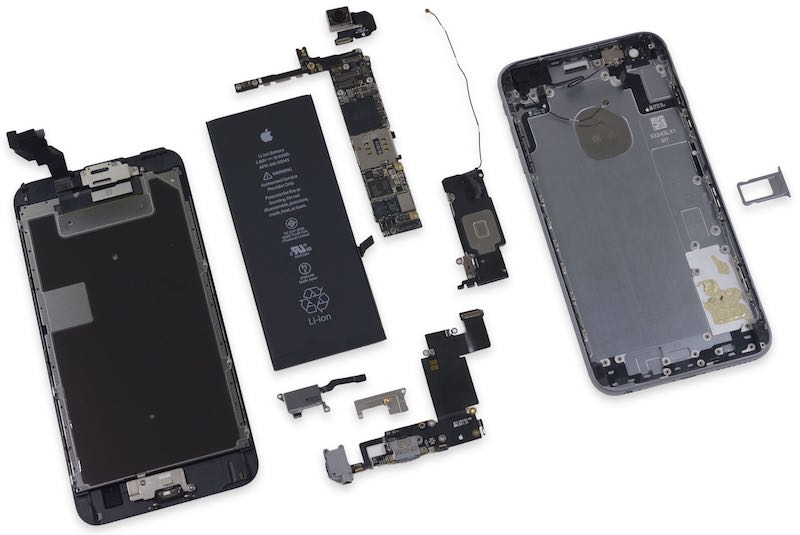 iPhone 6s Plus teardown image via iFixit.com