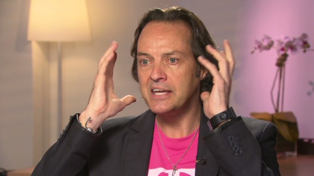 Photo of T-Mobile CEO John Legere via  BusinessPundit.com