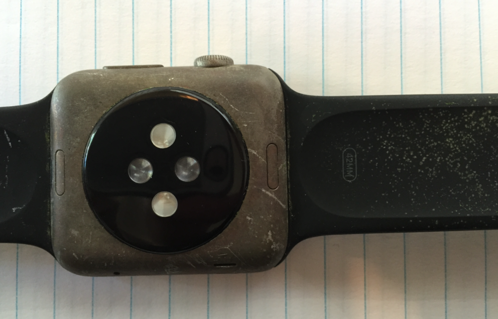 Image of submerged and recovered Apple Watch from WatchAware.com
